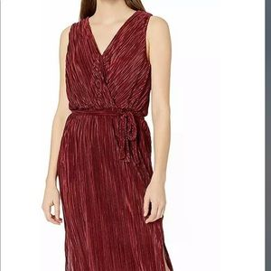 BB Dakota Happy Pleat Micro Faux Wrap Dress